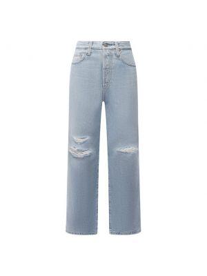 Голубые джинсы из плотной ткани Ag