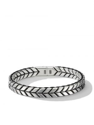 Плетеный браслет - серебряный David Yurman