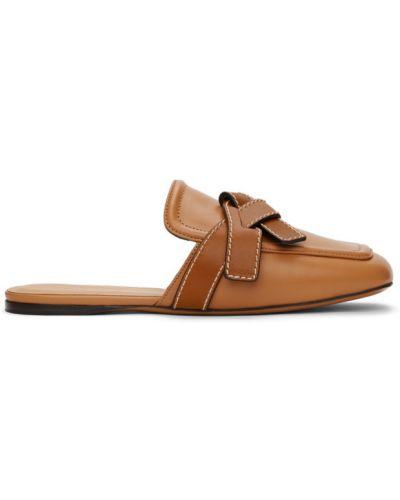 Czarne loafers skorzane Loewe