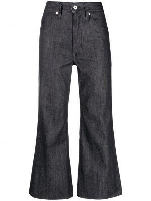 Czarne jeansy bawełniane z paskiem Jil Sander