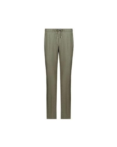 Шерстяные зеленые брюки повседневные Enrico Mandelli