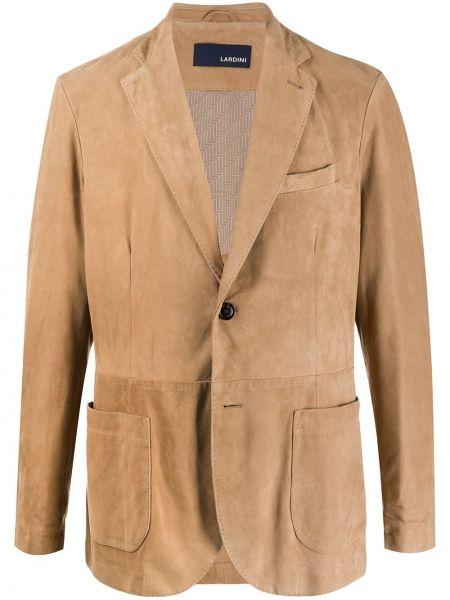 Пиджак с карманами замшевый Lardini