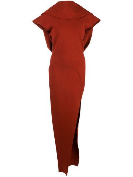 Открытое красное приталенное платье мини с открытой спиной Rick Owens