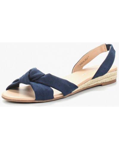 Синие сандалии замшевые Dorothy Perkins