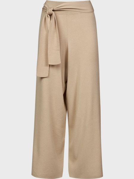 Бежевые брюки из вискозы Kontatto