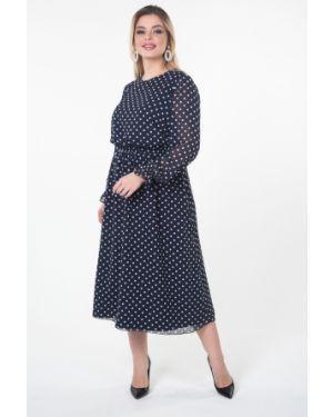 Платье в горошек шифоновое Valentina