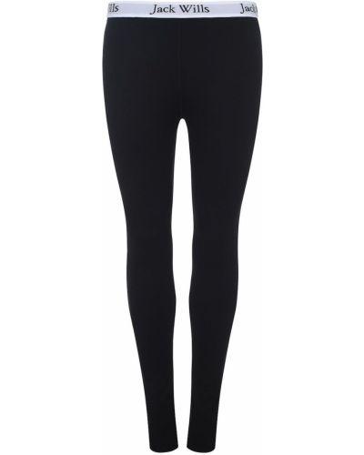 Klasyczne czarne legginsy bawełniane Jack Wills