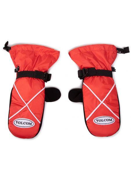 Czerwone rękawiczki z nylonu Volcom