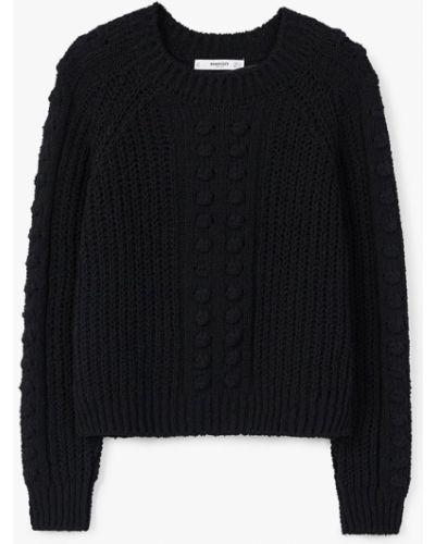 Черный свитер в клетку Mango