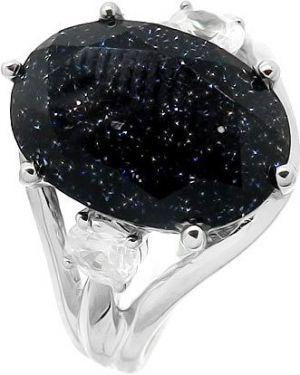 Кольцо из серебра синий Evora