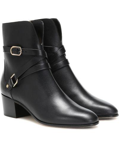 Klasyczny skórzany czarny buty skórzane Jimmy Choo