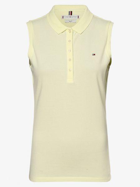 T-shirt bez rękawów - żółta Tommy Hilfiger
