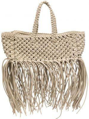Кожаная сумка - белая Yuzefi