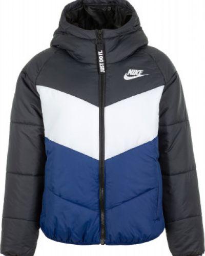 Куртка с капюшоном утепленная черная Nike