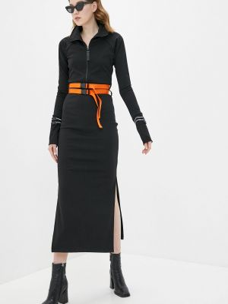 Платье прямое черное Malaeva