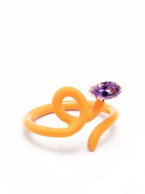 Fioletowy pierścionek ametyst Bea Bongiasca