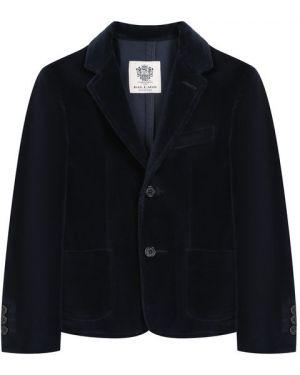 Пиджак бархатный синий Dal Lago