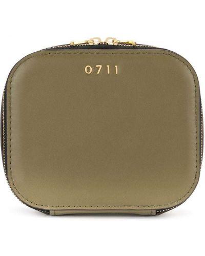 Желтая косметичка металлическая матовая на молнии 0711