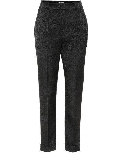 Укороченные брюки жаккардовые деловые Dolce & Gabbana