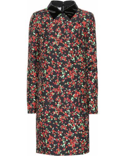 Платье мини с цветочным принтом шелковое Valentino