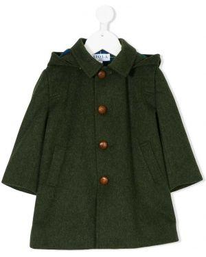 С рукавами зеленое шерстяное пальто Siola
