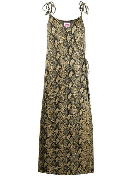 Платье миди в полоску на бретелях Solid & Striped