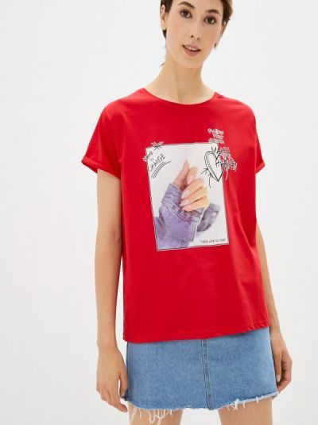 Красная футболка с короткими рукавами Shelter