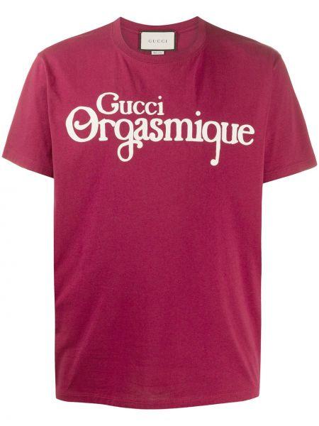 Koszula krótkie z krótkim rękawem fioletowy karmazynowy Gucci