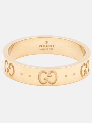 Pierścień złoto Gucci