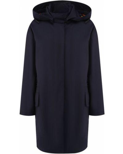 Куртка с капюшоном синий с подкладкой Loro Piana