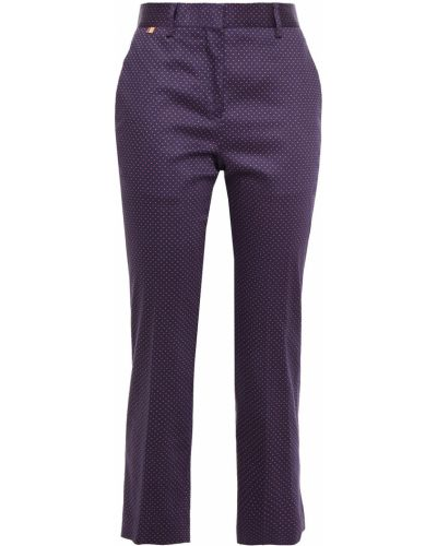 Фиолетовые хлопковые укороченные брюки с карманами Paul Smith