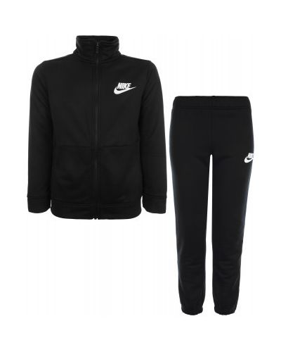 Черный спортивный костюм из полиэстера Nike