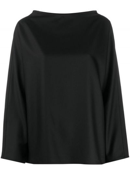 Свободная шерстяная черная рубашка с длинными рукавами Sofie D'hoore