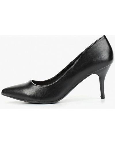 Туфли на каблуке черные кожаные Betsy
