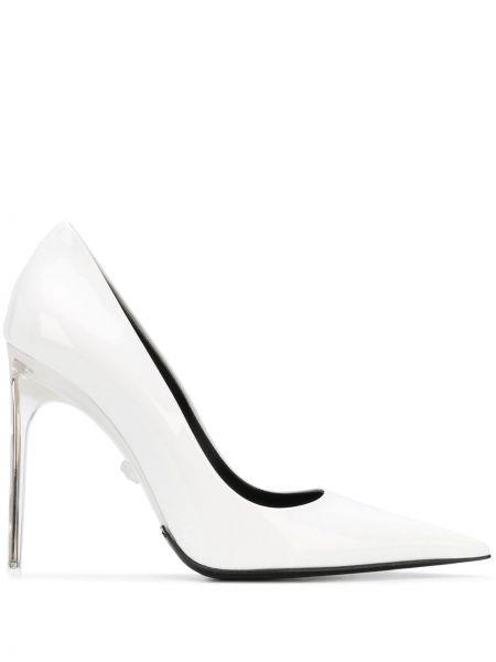 Лодочки на каблуке - белые Versace