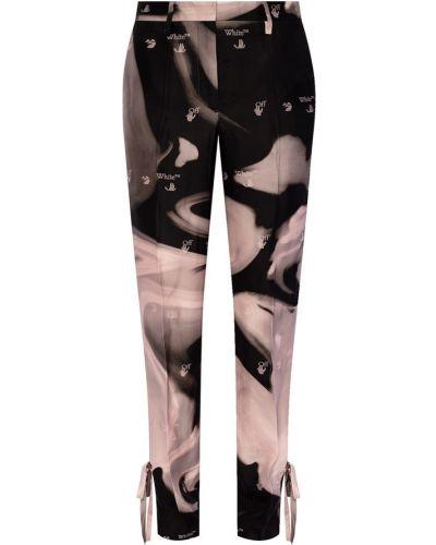 Czarne spodnie z haftem Off-white