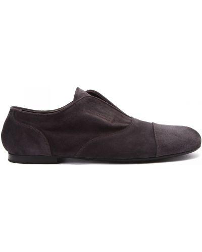 Серые кожаные туфли закрытые Rocco P.