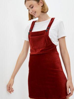 Коричневое турецкое платье Koton
