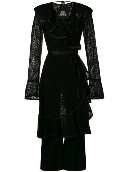 Комбинезон черный с оборками Marc Jacobs