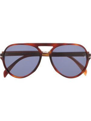 Оранжевые прямые солнцезащитные очки с завязками David Beckham Eyewear
