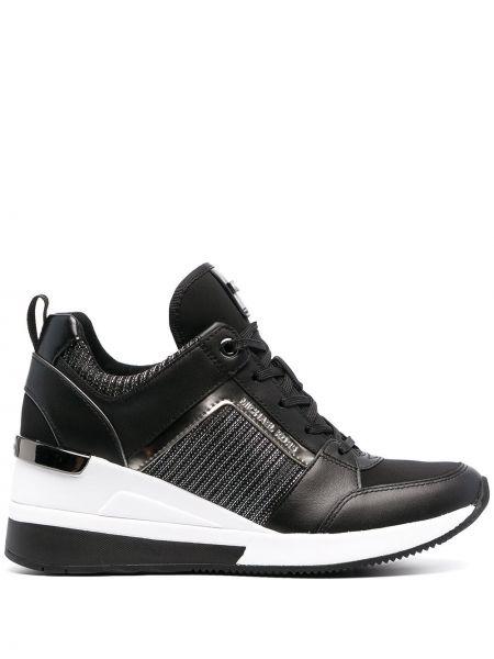 Кожаные кроссовки - черные Michael Michael Kors