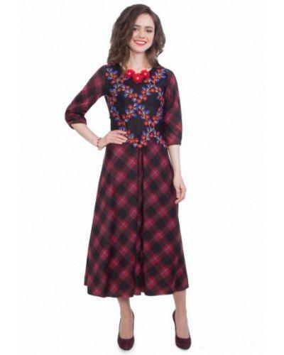 Платье весеннее красный Wisell