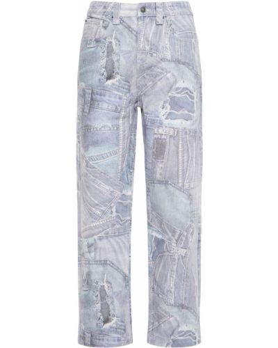 Niebieskie jeansy z printem Jaded London