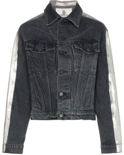 Серая классическая джинсовая куртка с манжетами на пуговицах Jordache