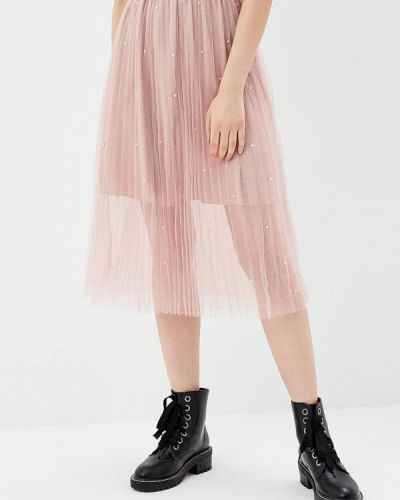 Розовая юбка осенняя Paccio