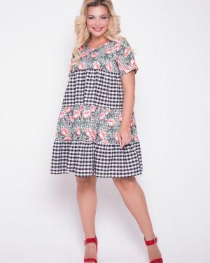 Платье мини платье-сарафан в клетку тм леди агата
