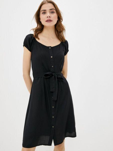 Платье с открытыми плечами черное Brave Soul