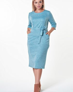 Платье с поясом в клетку платье-сарафан Valentina