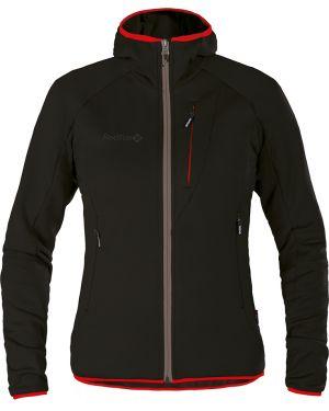 Куртка с капюшоном черная на молнии Red Fox