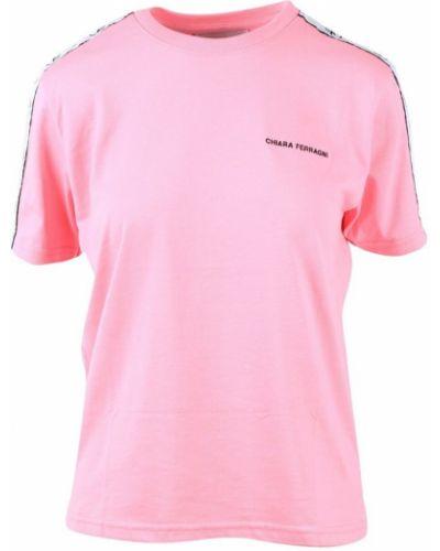 Różowa koszulka krótki rękaw Chiara Ferragni Collection